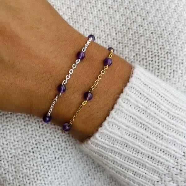 bracelet anthéa améthyste 4mm