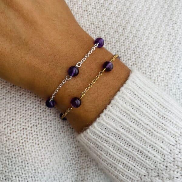 bracelet anthéa améthyste 6mm