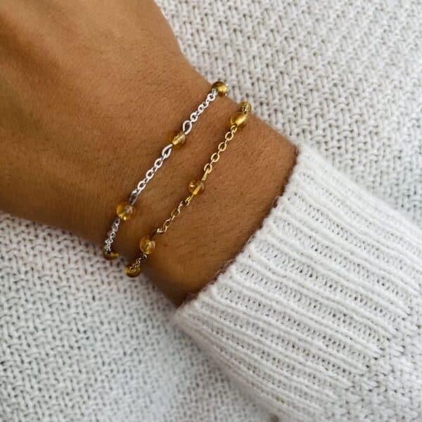 bracelet anthéa citrine 4mm