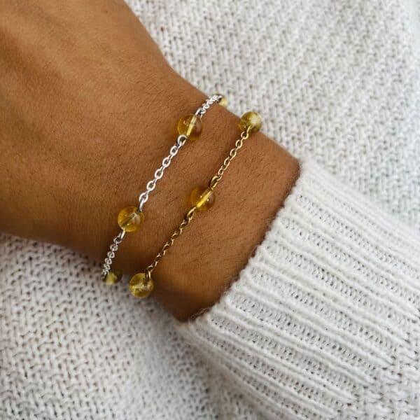 bracelet anthéa citrine 6mm
