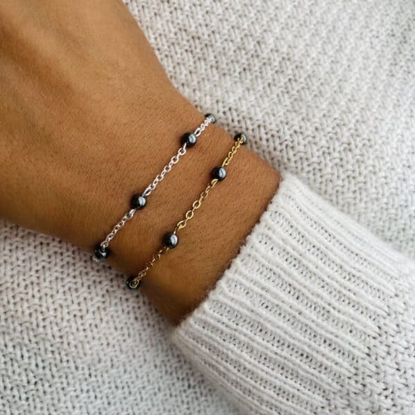 bracelet anthéa hématite 4mm
