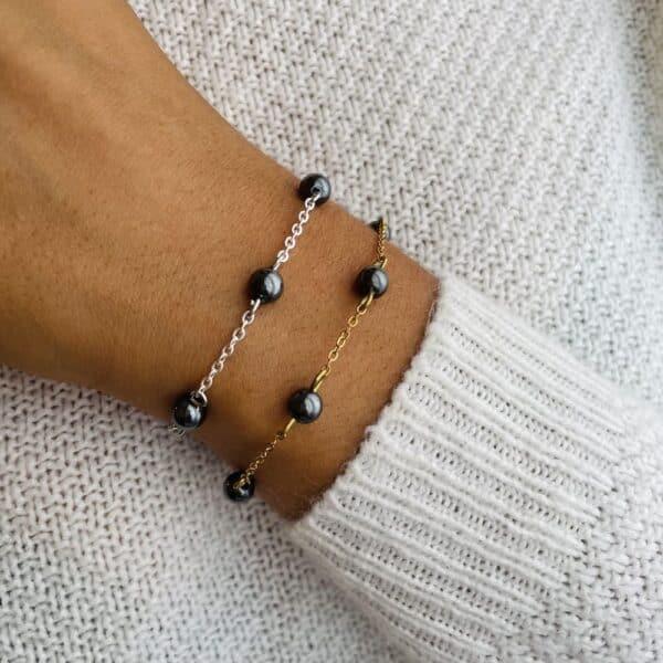bracelet anthéa hématite 6mm