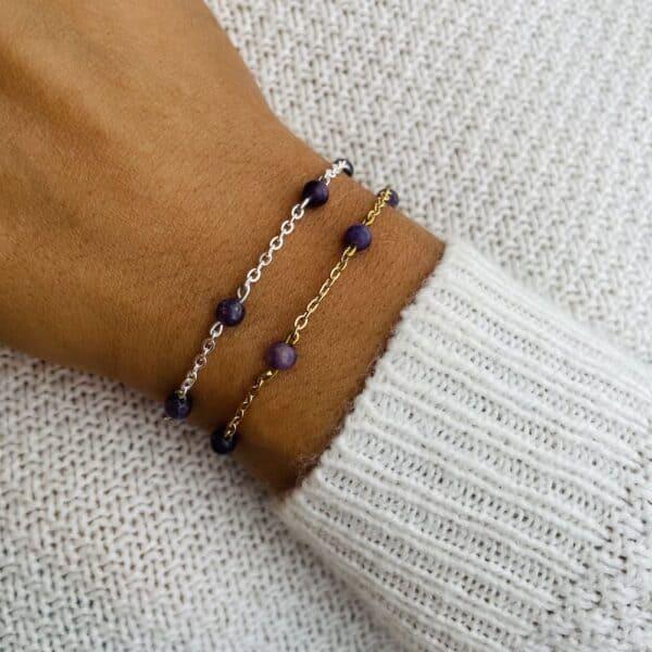 bracelet anthéa lépidolite 4mm