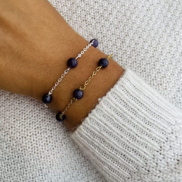 bracelet anthéa lépidolite 6mm