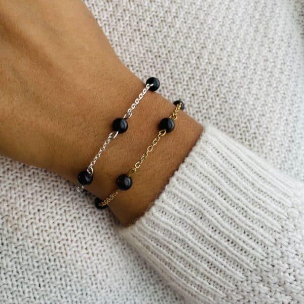 bracelet anthéa obsidienne 6mm