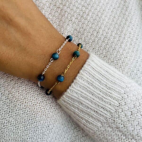 bracelet anthéa oeil de faucon 6mm