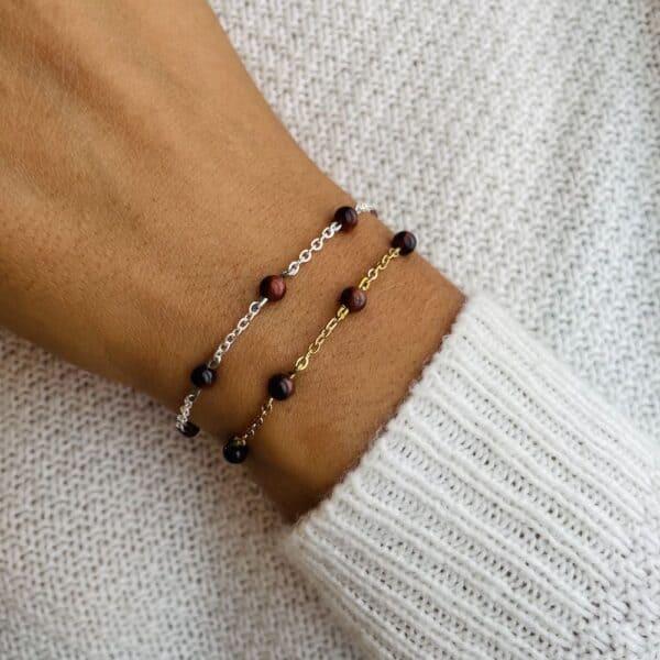 bracelet anthéa oeil de taureau 4mm