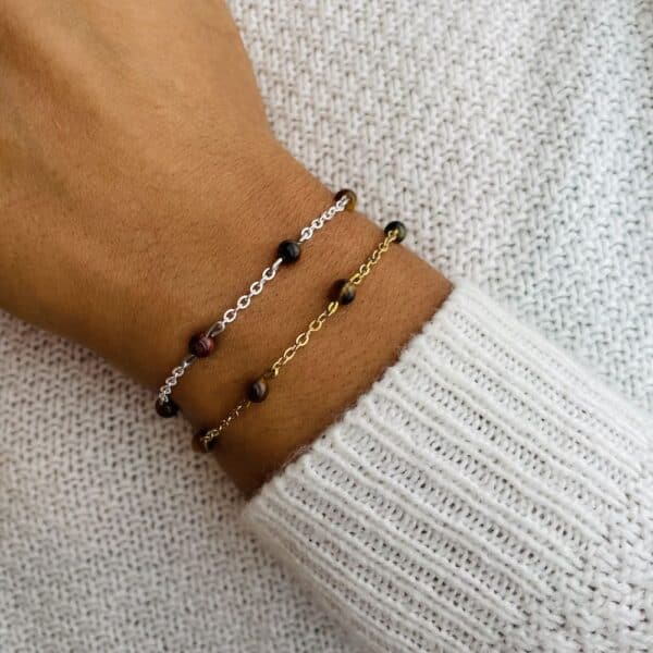 bracelet anthéa oeil de tigre 4mm