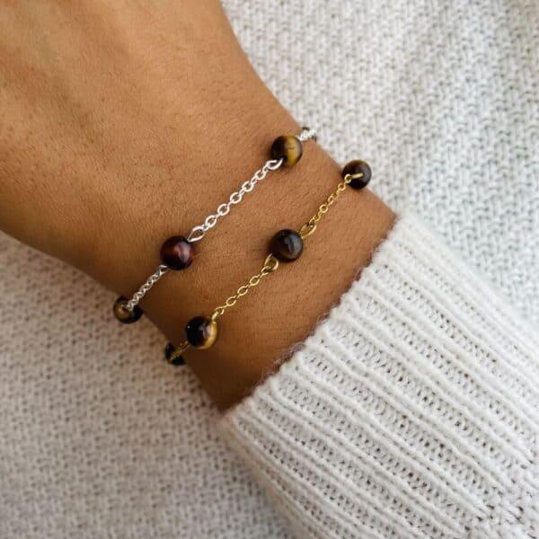 bracelet anthéa oeil de tigre 6mm