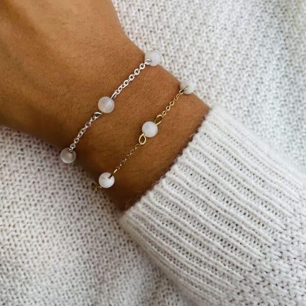 bracelet anthéa pierre de lune 6mm