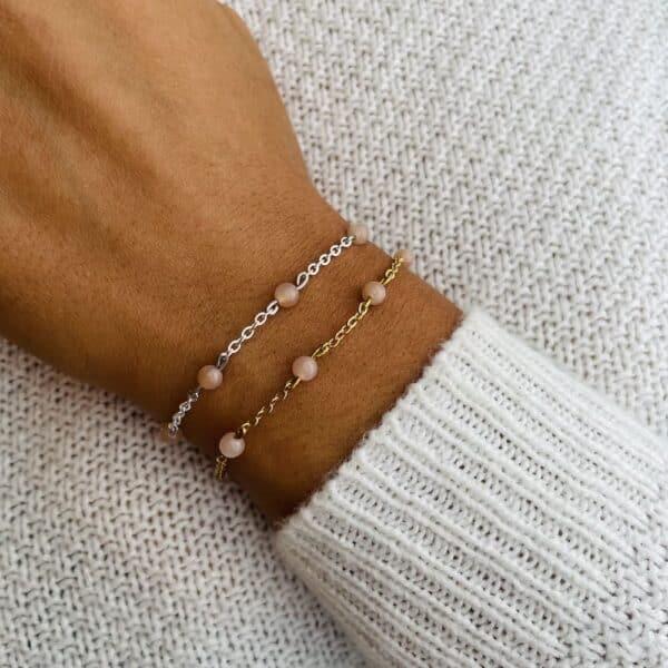 bracelet anthéa pierre de soleil 4mm