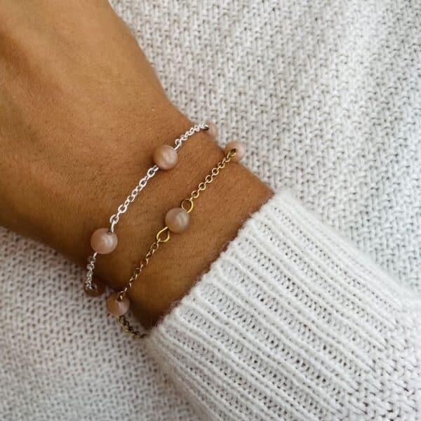 bracelet anthéa pierre de soleil 6mm