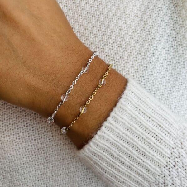 bracelet anthéa quartz 4mm